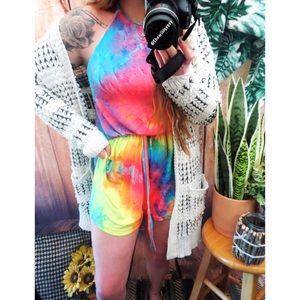 Pants - NWOT Soft tie dye romper 🌿